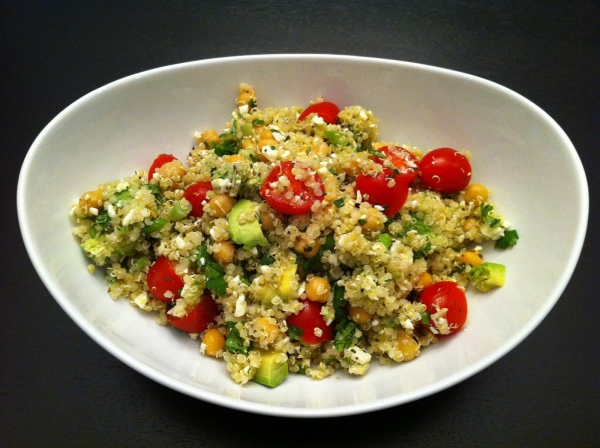 Quinoa Salad (with chickpeas, feta, tomatoes, avocado) 4.JPG